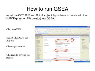 How to run GSEA