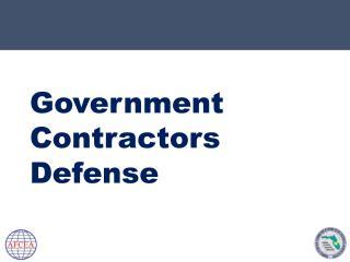 Government  Contractors  Defense