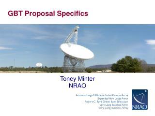 GBT Proposal Specifics