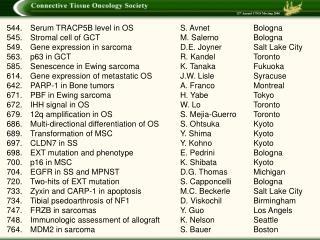 Serum TRACP5B level in OSS. AvnetBologna 545.Stromal cell of GCTM. SalernoBologna