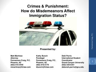 Crimes & Punishment: How do Misdemeanors Affect  Immigration Status?