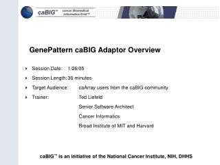 GenePattern caBIG Adaptor Overview
