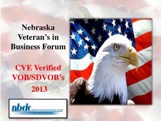 Nebraska Veteran's in Business Forum