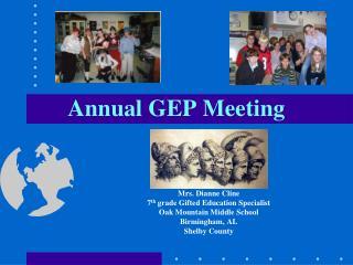 Annual GEP Meeting