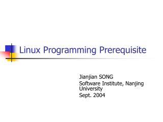 Linux Programming Prerequisite