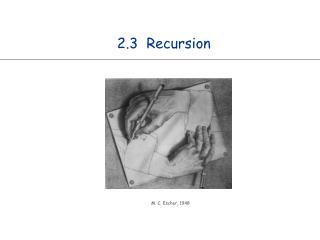 2.3  Recursion