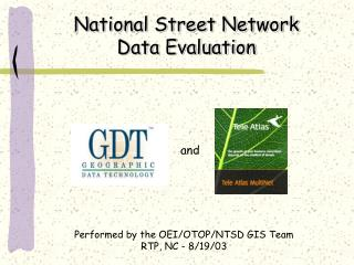 National Street Network  Data Evaluation