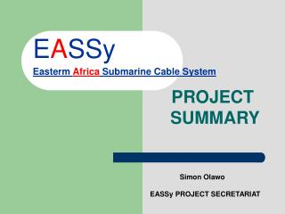 EASSy Easterm Africa Submarine Cable System
