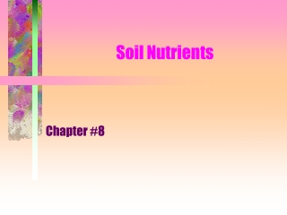 Chapter 3 Soil Fertility
