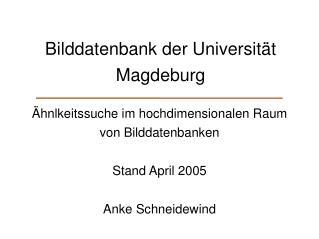 Bilddatenbank der Universität Magdeburg