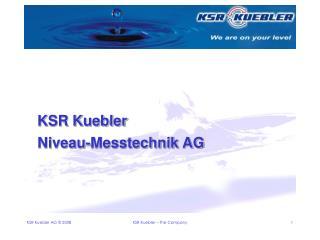 KSR Kuebler Niveau-Messtechnik AG