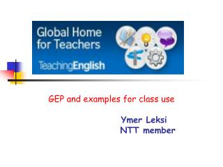 GEP and examples for class use Ymer Leksi NTT member