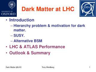 Dark Matter at LHC