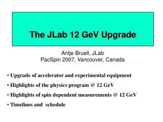 The JLab 12 GeV Upgrade