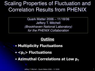 Scaling Properties of Fluctuation and Correlation Results from PHENIX