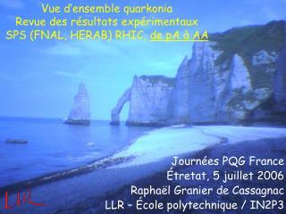 Vue d'ensemble quarkonia Revue des résultats expérimentaux SPS (FNAL, HERAB) RHIC,  de pA à AA