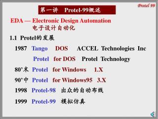 第一讲     Protel-99 概述