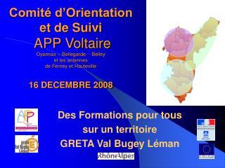 Des Formations pour tous  sur un territoire GRETA Val Bugey Léman