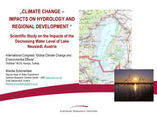 """ CLIMATE CHANGE –  IMPACTS ON HYDROLOGY AND REGIONAL DEVELOPMENT  """