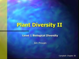 Plant Diversity II
