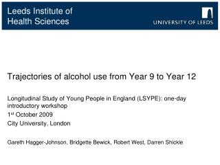 Trajectories of alcohol use from Year 9 to Year 12