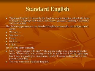 Standard English