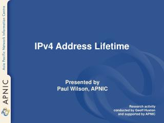 IPv4 Address Lifetime