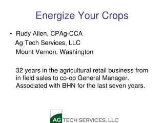 Energize Your Crops