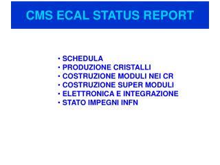 CMS ECAL STATUS REPORT