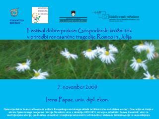 Festival dobre prakse: Gospodarski krožni tok  v priredbi renesančne tragedije Romeo in Julija