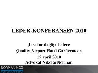 LEDER-KONFERANSEN 2010