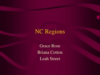 NC Regions