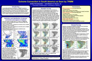 Extreme Convection in South America as Seen by TRMM