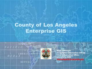 County of Los Angeles Enterprise GIS