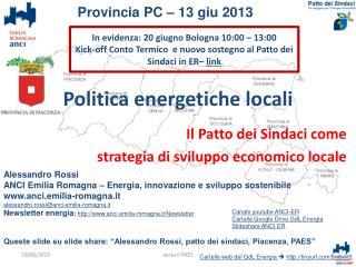Politica energetiche locali