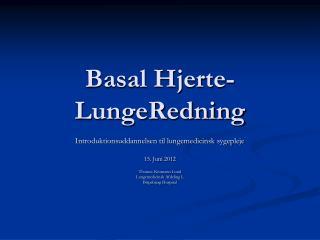 Basal Hjerte-LungeRedning