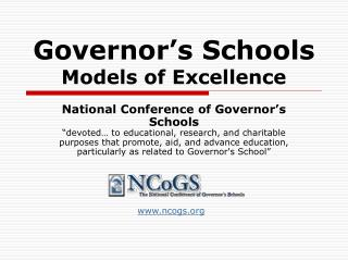 Governor's Schools  Models of Excellence