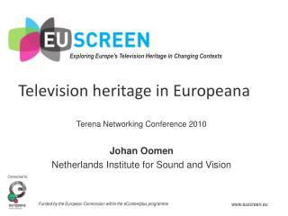 Television heritage in Europeana