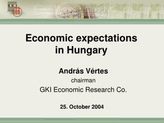 Economic expectations in  Hungary