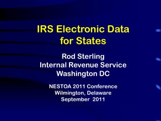 New IRS Organization