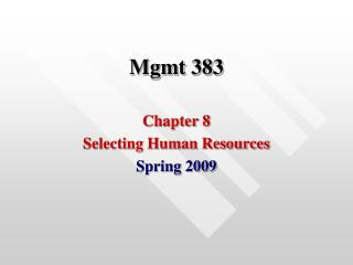 Mgmt 383