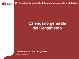 Calendario generale del Censimento