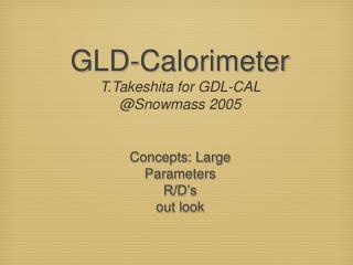 GLD-Calorimeter