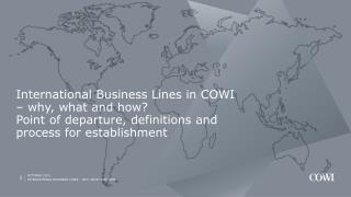 International business lines in COWI � why, what and how