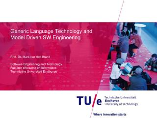 Generic Language Technology and Model Driven SW Engineering