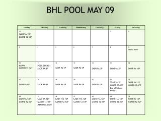 BHL POOL MAY 09