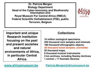 Dr. Patricia Mergen  Biology Department
