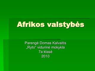 Afrikos valstyb ės