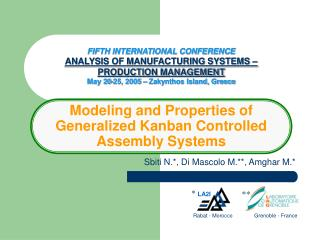 Modeling and Properties of  Generalized Kanban Controlled Assembly Systems