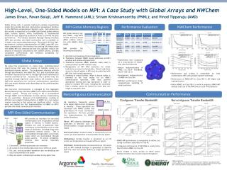 High-Level, One-Sided Models on MPI:  A Case Study with Global Arrays and NWChem
